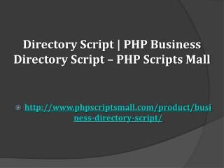 Directory Script | PHP Business Directory Script – PHP Scripts Mall