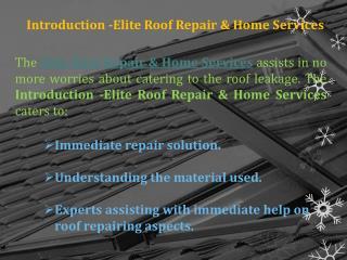 Highly Praised Roof Repair Service Provider in ELDORADO HILLS, CA