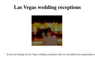 wedding receptions on the Las Vegas strip