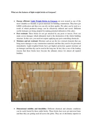 How to recognize Light Weight Bricks In Gurgaon?