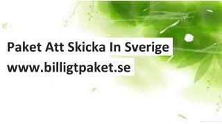Paket Att Skicka In Sverige | Billigtpaket