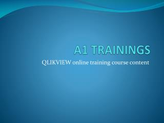 QlikView online training course content
