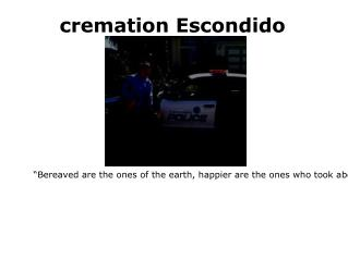 Cheap cremation Escondido