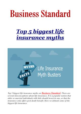 Top 5 biggest life insurance myths
