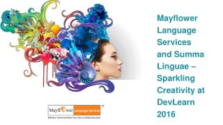Mayflower Language Services and Summa Linguae – Sparkling Creativity at DevLearn 2016