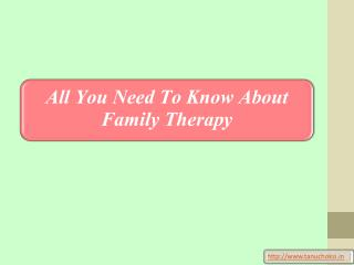 All You Need To Know About Family Therapy