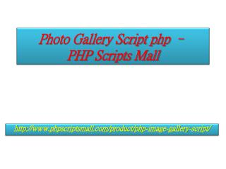 Photo Gallery Script php – PHP Scripts Mall