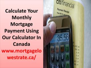 How To Get Commercial Mortgage Rates Calculator In Canada