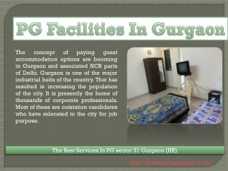 Boy PG Sector 31 in Gurgaon