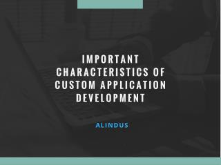 Important Characteristics of Custom Application Development