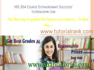 HIS 204 Course Experience Tradition / tutorialrank.com