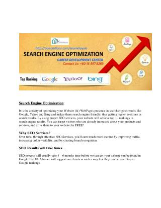 SEO consultant Malaysia | SEO Malaysia company