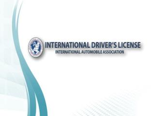 Get Online International Driver & Driving Document