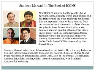 Sandeep Marwah In The Book of ICONS