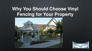 Why You Should Choose Vinyl Fencing for Your Property