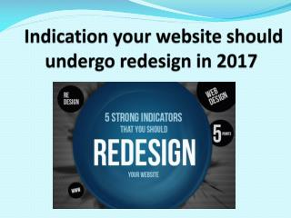 Indication your website should undergo redesign in 2017
