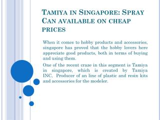 Tamiya in Singapore: Spray Can available on cheap prices