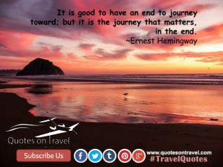 Famous Travel Quotes by Ernest Hemingway - QuotesOnTravel.com