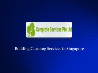 Building cleaning services singapore
