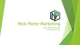 Nick Ponte Marketing