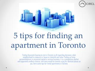 5 tips for finding an apartment in Toronto