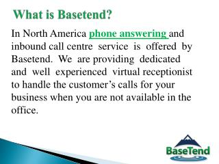 Phone answering service - Basetend