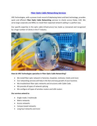 Fiber Optic Cable Networking