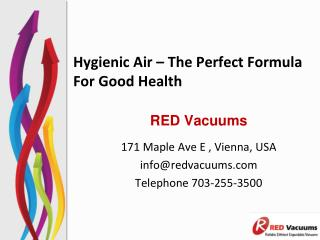 Hygienic Air – The Perfect Formula For Good Health