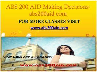 ABS 200 AID Making Decisions-abs200aid.com