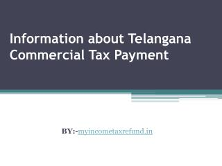 Information about Telangana Commercial Tax Payment
