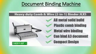Document Binding Machine-Pfec