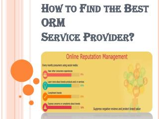 Tips to Find the Best ORM Service Provider