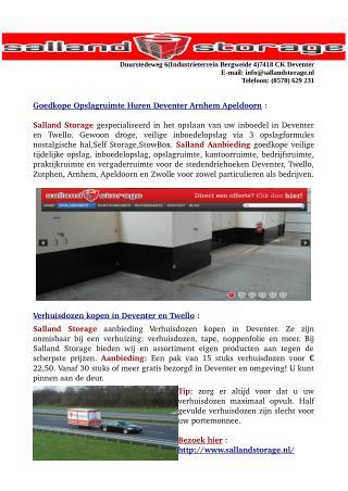 Goedkope -Tijdelijke Opslagruimte Huren Deventer Arnhem Apeldoorn