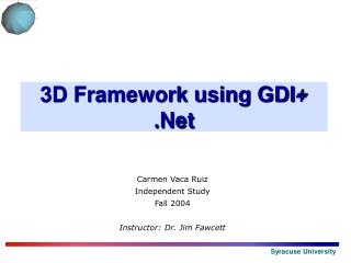 3D Framework using GDI  .Net