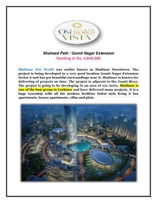 Shalimar one world vista at gomti nagar extension lucknow