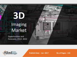3D Imaging Market Expected to Reach $21,341 Million, Globally, by 2022