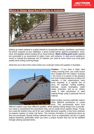 Metal Roofing Gold Coast Gives Some Tips for Your Home