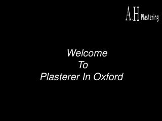 plasterer in Oxford