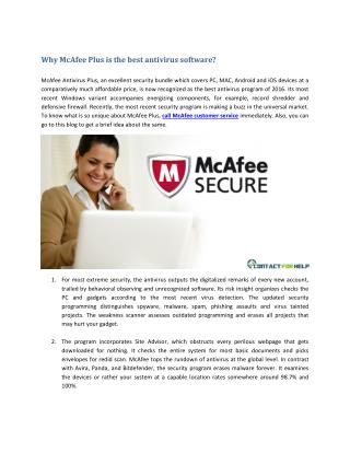 Why McAfee Plus is the best antivirus software?