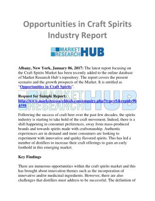 Craft Spirits Industry Market Research Report
