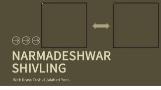 Importance of Narmadeshwar Shivling With Brass Trishul Jalahari Yoni