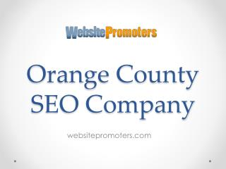 Orange County SEO Company - websitepromoters.com