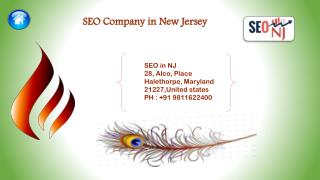 Benefits SEO Company in New Jersey