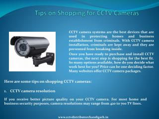 Tips on Shopping for CCTV Cameras