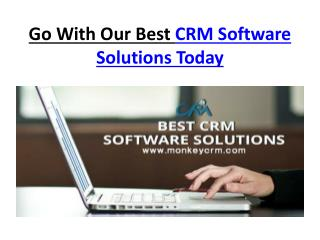 Go With Our Best CRM Software Solutions Today