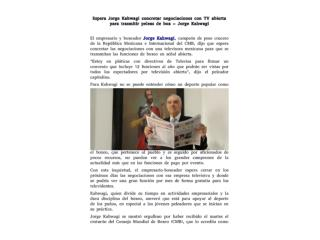 Espera Jorge Kahwagi concretar negociaciones con TV abierta para trasmitir peleas de box - Jorge Kahwagi