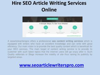 Hire seo article writing services online