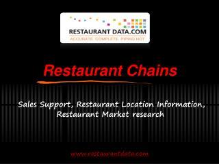 Restaurant Chains - Restaurant Data