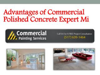 Advantages of Commercial Polished Concrete Expert Mi