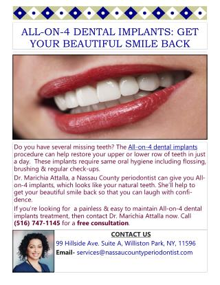 All-On-4 Dental Implants: Get Your Beautiful Smile Back